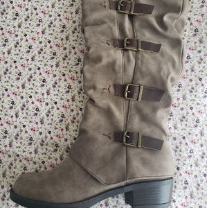 JELLYPOP Brand Mid Calf Suede Boots